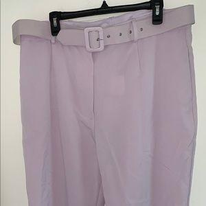WAYF lavender Belted HighWaist Plus XXL crop pants